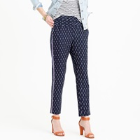 J.Crew Pull On Ikat Pant With Metallic Tux Stripes