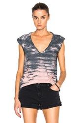 Pam And Gela Kate Tee In Gray Ombre Tie Dye Gray Ombre And Tie Dye