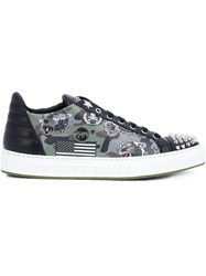 Philipp Plein Studded Air Force Sneakers Black