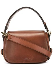 Polo Ralph Lauren Flap Closure Crossbody Bag Brown
