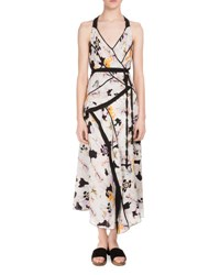 Proenza Schouler Sleeveless Poppy Print Asymmetric Dress White Poppy Print