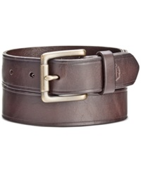 Nautica Men's 35 Mm Leather Belt Brown