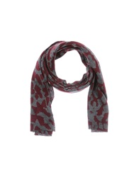 Hosio Oblong Scarves Dark Blue
