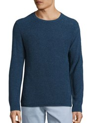 Saks Fifth Avenue Solid Boucle Sweater Dark Blue