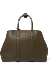 Mallet And Co Hanbury Textured Leather Tote Army Green