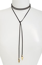 Vanessa Mooney Women's 'Arrow' Faux Suede Lariat Choker