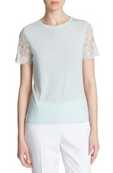 Women's Ted Baker London 'Somsrii' Sheer Lace Sleeve Top Mint