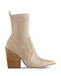 Kendall And Kylie Felicia Pointed Toe Block Heel Booties Brown