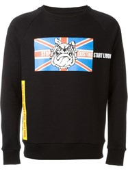Amen Bulldog Print Sweatshirt Black