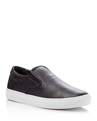 Lacoste Alliot Leather Slip On Sneakers Black