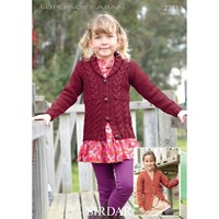 Sirdar Supersoft Aran Cable Jacket Knitting Pattern 2393