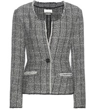 Etoile Isabel Marant Leary Wool And Linen Blend Jacket Black