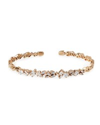 Suzanne Kalan Tilted Baguette Diamond Bangle In 18K Rose Gold