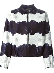 Mother Of Pearl 'Billy' Flower Print Bomber Jacket Blue