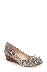 Cole Haan 'Tali' Bow Wedge Pump Women Sahara Snake