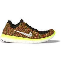 Nike Running Free Rn Flyknit Sneakers Chartreuse