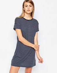 Fred Perry Striped Jersey Dress Navy
