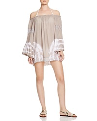 Surf Gypsy Tie Dye Swim Cover Up Tunic Taupe