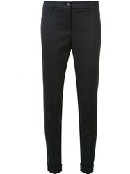 Fabiana Filippi Skinny Cropped Tailored Trousers Blue