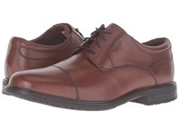 Rockport Essential Details Ii Waterproof Cap Toe Tan Antique Leather Men's Shoes Brown