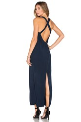 Samandlavi Madisyn Maxi Dress Navy