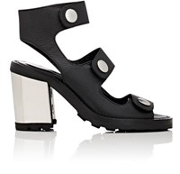 Opening Ceremony Women's Isa Grained Leather Sandals Black