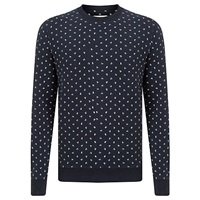 John Lewis And Co. Ditsy Berry Sweatshirt Navy