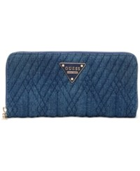 Guess Marisole Large Zip Around Boxed Wallet Denim