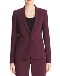 Elie Tahari Tova Seamed Blazer 100 Bloomingdale's Exclusive Bordeuax