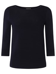 Phase Eight Martha Ripple Stitch Top Navy