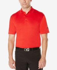 Callaway Men's Big And Tall Optidri Golf Polo Tango Red