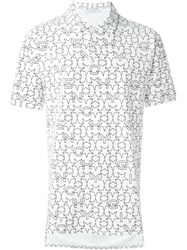 Givenchy Geometric Star Print Polo Shirt White