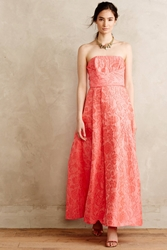 Tracy Reese Climbing Cammelia Brocade Gown Pink