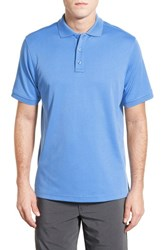 Nordstrom Men's Men's Shop Regular Fit Interlock Knit Polo Blue Lapis