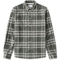 Norse Projects Hans Brushed Check Shirt Green