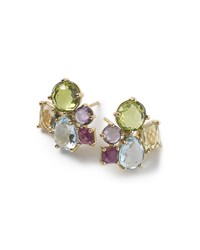 Ippolita 18K Rock Candy Mixed Cluster Earrings In Summer Rainbow Gold