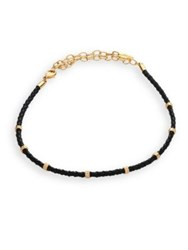 Ettika Leather Rope Choker Black