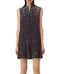 Allsaints Lin Sinai Silk Dress Taupe