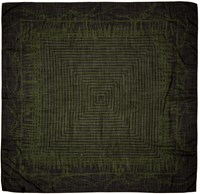 Haider Ackermann Black And Green Patterned Scarf