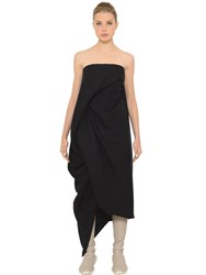 Rick Owens Draped Silk And Wool Gauze Dress