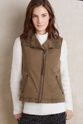 Anthropologie Canyon Sherpa Vest Moss