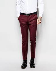 Noose And Monkey Suit Trousers With Stretch In Skinny Fit Red