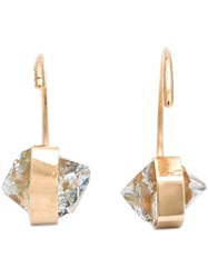 Melissa Joy Manning Quartz Hug Earrings Metallic