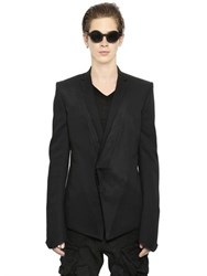 Julius Viscose And Wool Blend Gabardine Jacket