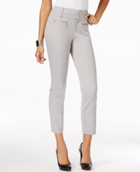 Inc International Concepts Petite Straight Leg Cropped Zipper Pocket Pants Only At Macy's Sky Grey