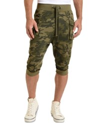 2Xist 2 X Ist Athleisure Men's Cropped Cargo Pants Olive Camo