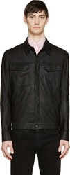 Helmut Lang Black Washed Paper Leather Jacket