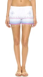 Lemlem Wubit Embroidered Shorts Sky