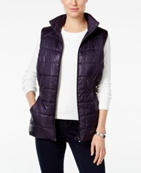 Styleandco. Style Co. Quilted Puffer Vest Only At Macy's Dark Grape