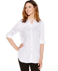Calvin Klein Non Iron Button Down Tunic Birch